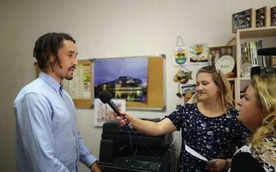 Marijampolės TV reportažas apie susitikimą su Europarlamentu Broniu Rope