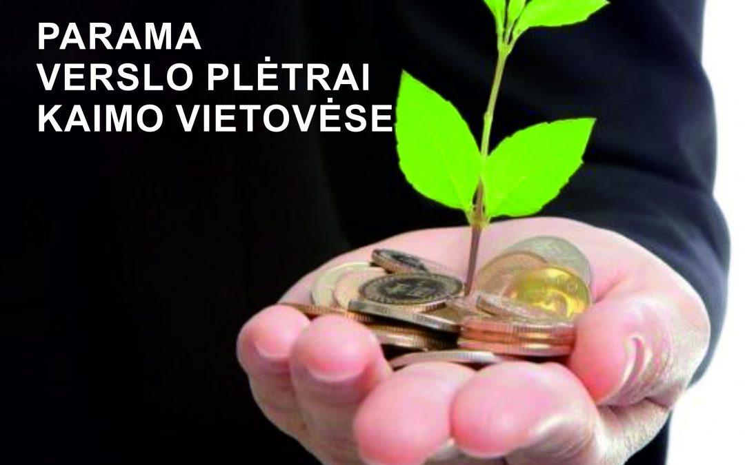 Verslo kūrimui ir plėtrai kaime – 19,4 mln. eurų