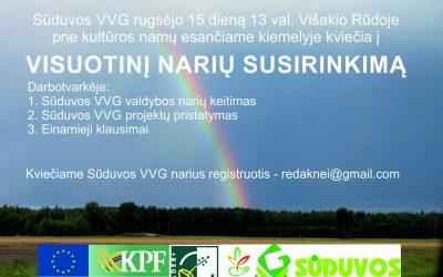 Sūduvos VVG visuotinis narių susirinkimas