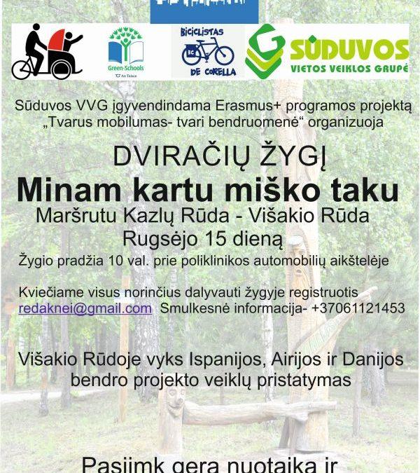 Sūduvos VVG organizuoja dviračių žygį