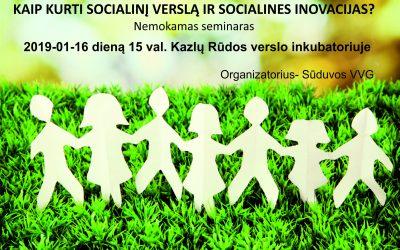 Socialinio verslo mokymai