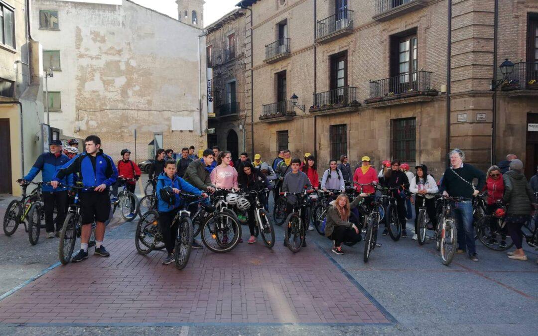 Erasmus projekto dalyvių dviračių žygis Ispanijoje